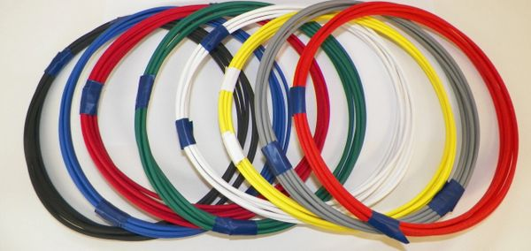 18 Gauge GXL Wire - 8 solid colors each 5 foot long