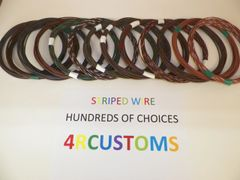 BROWN 16 gauge GXL wire - with stripe color and length options
