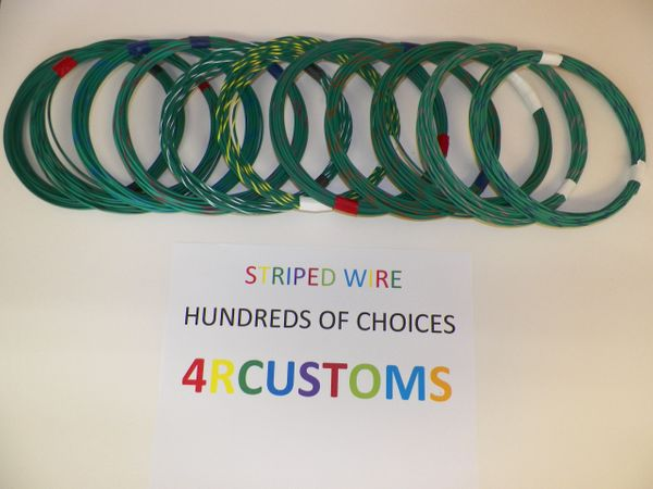 GREEN 16 gauge GXL wire - with stripe color and length options