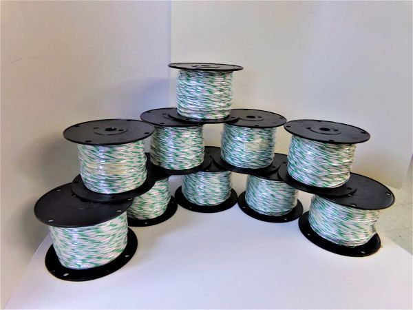 ONE OVERSTOCK 16GXL WHITE/GREEN X500 FOOT SPOOL