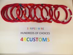 RED 16 gauge GXL wire - with stripe color and length options