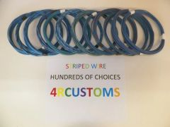 LIGHT BLUE 16 gauge GXL wire - with stripe color and length options