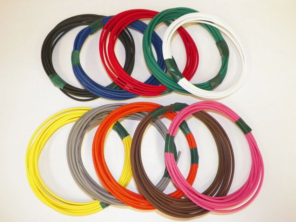 18 Gauge TXL Wire - 10 solid colors each 25 foot long