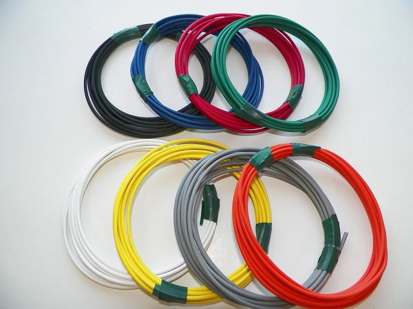 18 Gauge TXL Wire - 8 solid colors each 25 foot long