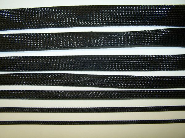 BLACK BRAIDED EXPANDABLE FLEX SLEEVE WIRING HARNESS LOOM FLEXABLE WIRE COVER