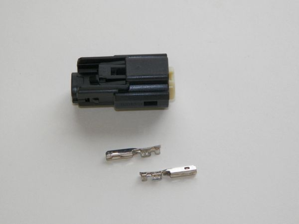 1 Harley 2x Black Female OEM Molex MX150 connector+terminals