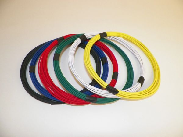 18 gauge GXL wire - 6 solid colors each 10 foot long