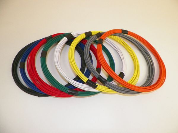 18 Gauge GXL Wire - 8 solid colors each 25 foot long