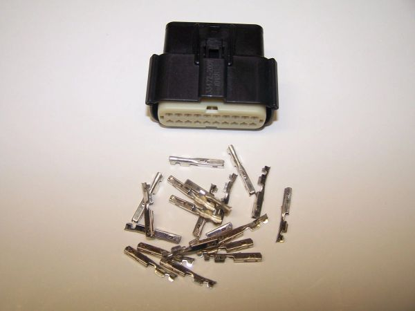 1 Harley 20x Black Female OEM Molex MX150 connector+terminals