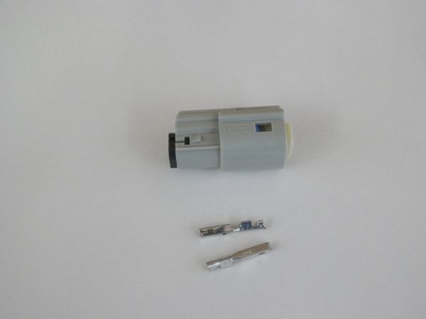 1 Harley 2x Gray Female OEM Molex MX150 connector+terminals