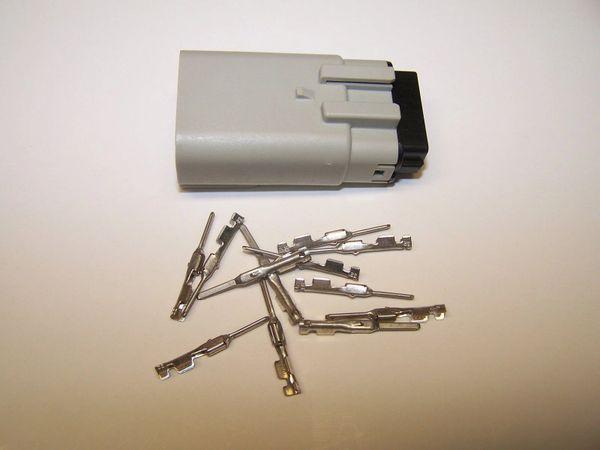 1 Harley 12x Gray Male OEM Molex MX150 connector+terminals