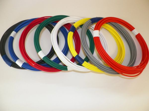 14 Gauge GXL Wire - 8 solid colors each 10 foot long