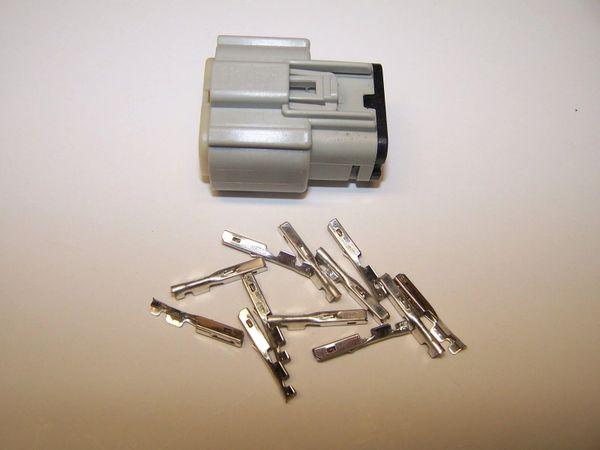 1 Harley 12x Gray Female OEM Molex MX150 connector+terminals