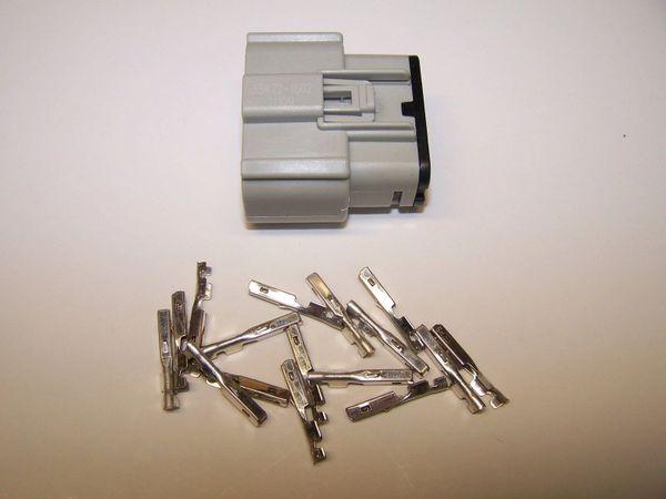 1 Harley 16x Gray Female OEM Molex MX150 connector+terminals