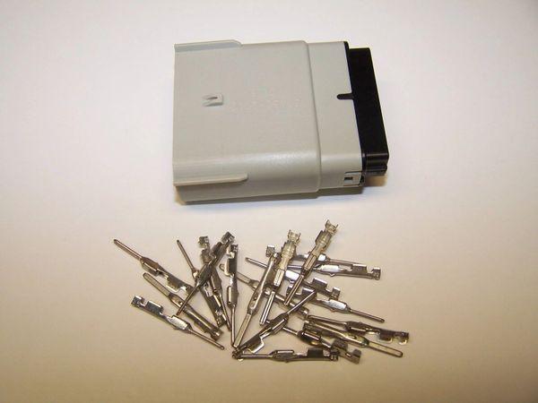 1 Harley 20x Gray Male OEM Molex MX150 connector+terminals