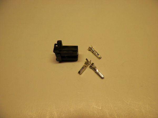1 Harley 3x Black OEM Amp/Tyco Multi-lock MALE conector+terminals