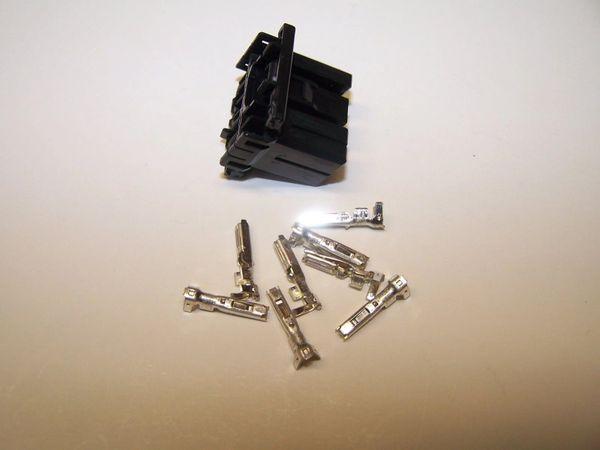 1 Harley 8x Black OEM Amp/Tyco Multi-lock MALE conector+terminals
