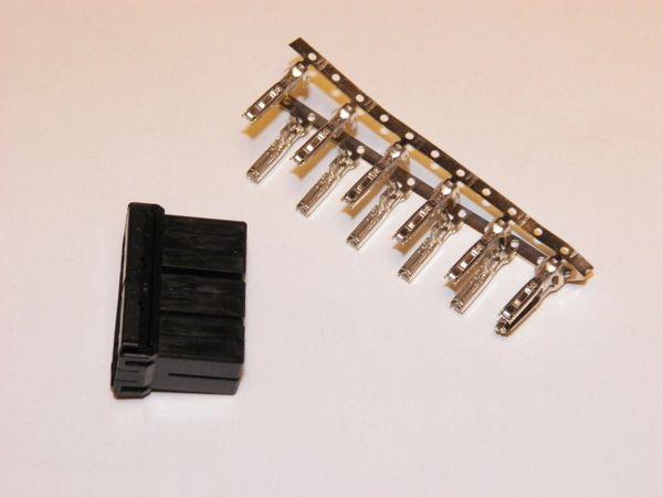 1 Harley 12x Black OEM Amp/Tyco Multi-lock MALE conector+terminals