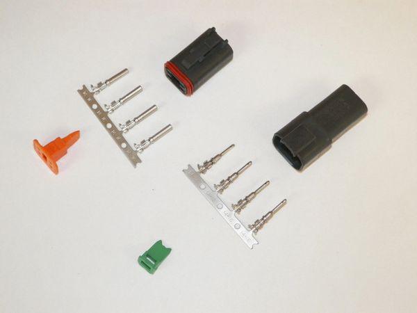 4X Black Deutch DT Series Connector Set 14-16-18 STAMPED Nickel Terminals