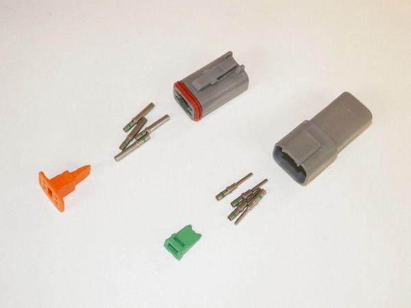 4X Gray Deutsch DT Series Connector Set 14-16-18 SOLID Nickel Terminals