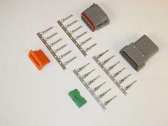 12X Gray Deutsch DT Series Connector Set 14-16-18 STAMPED Nickel Terminals