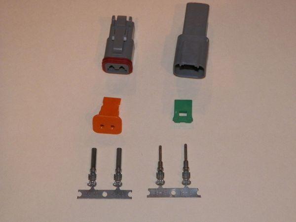 2X Gray Deutch DT Series Connector Set 16-18-20 STAMPED Nickel Terminals