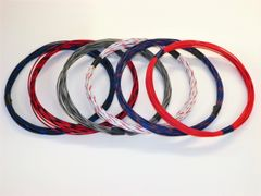 20 gauge TXL wire - 6 STRIPED colors each 25 foot long