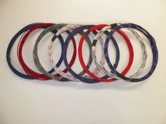 20 gauge TXL wire - 8 STRIPED colors each 10 foot long
