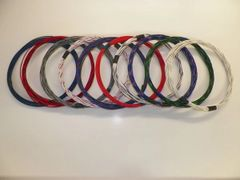 20 gauge TXL wire - 10 STRIPED colors each 10 foot long