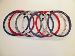 16 gauge GXL wire- 8 striped colors each 25 foot long