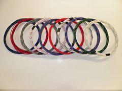 18 gauge GXL wire- 10 striped colors each 25 foot long