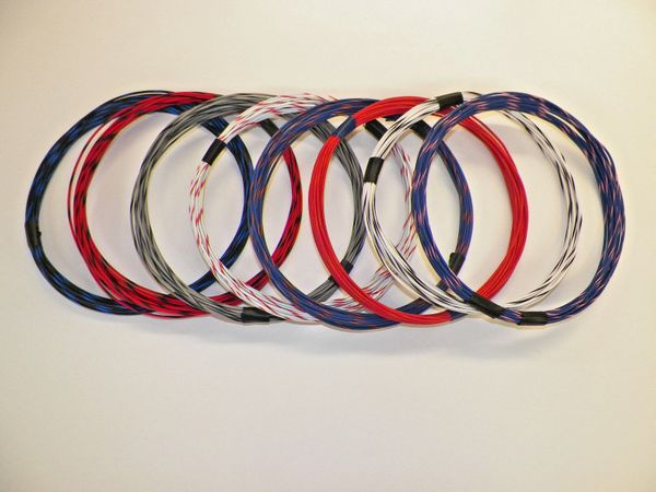 18 gauge GXL wire- 8 striped colors each 25 foot long