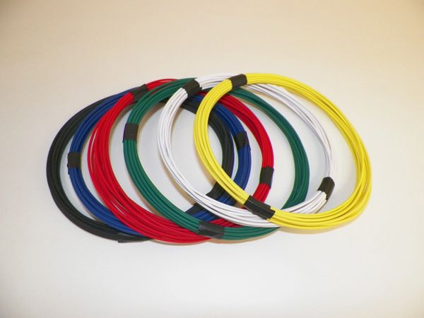 12 gauge GXL wire - 6 solid colors each 10 foot long
