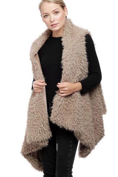 Reversible Faux Fur Shag Vest