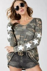 Star Camo Long Sleeve Tee