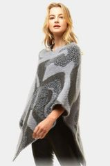 Gray Multi Pattern Ponch