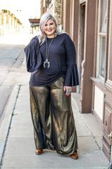 Davida Golden Black Wide Length Pants