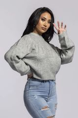 Gray Jewel Sweater