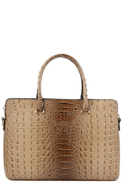 Faux Croc Brief Laptop Bag