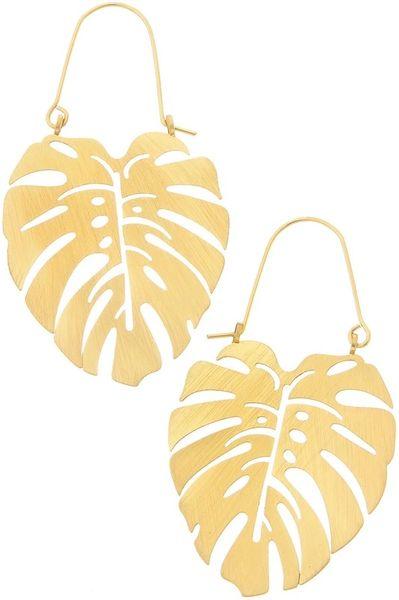 Monstera Satin Leaf Earrings
