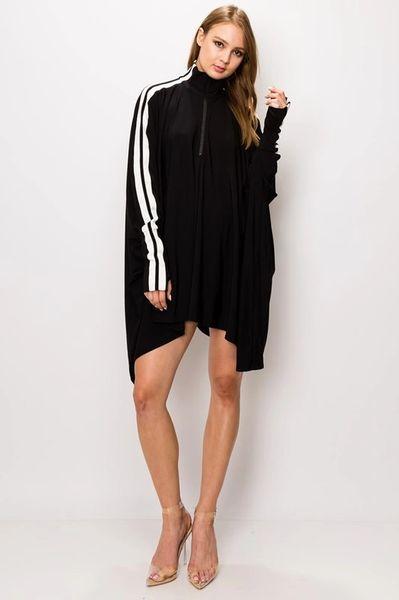 Zip Striped Tunic