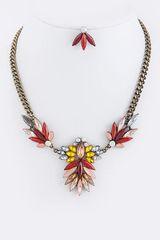Rhinestone Spike Jewel Necklace Set