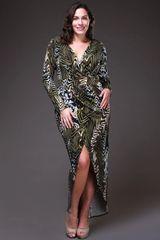 Olive Organiza High-low Dress
