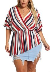 Red Striped Boxy Top
