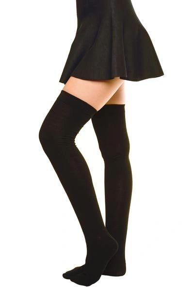 Black Knee/Thigh Socks