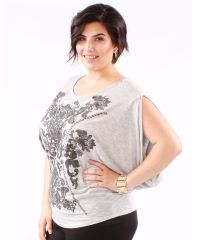 Sleeveless Baroque Batwing Blouse