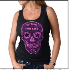 Tattooed for Life Sugar Skull Tank
