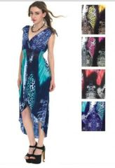 Wicked dress with Hi Low Hem with great graphic print