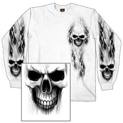 Ghost Skull Long Sleeve Shirt
