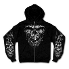 Shredder Skull Hoody
